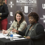 Kentucky Secretary of State Alison Lundergan Grimes kicked off her second Statewide Civic Engagement Tour at UofL last week.