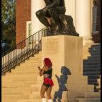 Dancer in front of the thinker