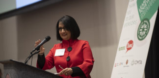 UofL President Neeli Bendapudi announced UofL's membership today at the Louisville Sustainability Symposium, which UofL is hosting for the first time.