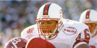 """UofL players wore a patch during the 1991 Fiesta Bowl game that read,"""" The Dream Lives On,"""" in response to Arizona voters' rejection of making that a recognized holiday months prior."""