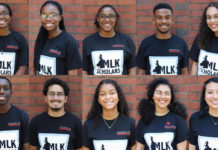 The 2023 cohort of UofL's MLK Scholars.
