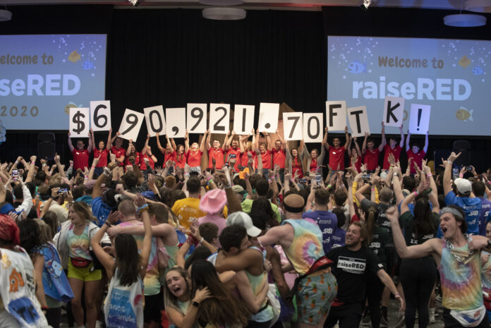 This year's raiseRED dance marathon will look different than this, with mostly virtual events, but the goal is the same: to fight pediatric cancer.
