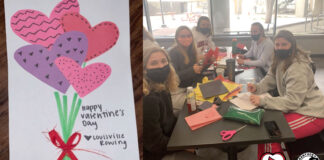 More than 220 UofL student-athletes from 10 different teams participated in a form of service for Valentine's Day
