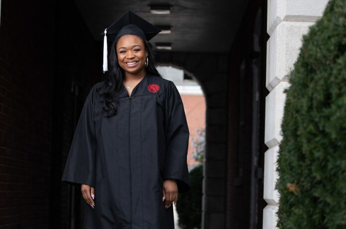 Gzeonie Hampton, a McConnell Scholar and a Porter Scholar, is one of UofL's 2021 grads.