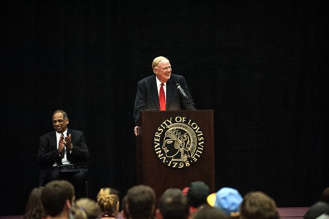 President James Ramsey spoke at convocation.