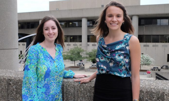 Mackenzie Flynn and Jessica Eaton Fulbright-Fogarty Fellows from the UofL School of Medicine