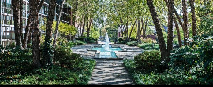 Schneider Fountain on the Belknap Campus.