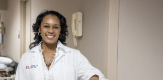 Erica Sutton, MD, a general surgeon with UofL Physicians and associate professor at the UofL School of Medicine