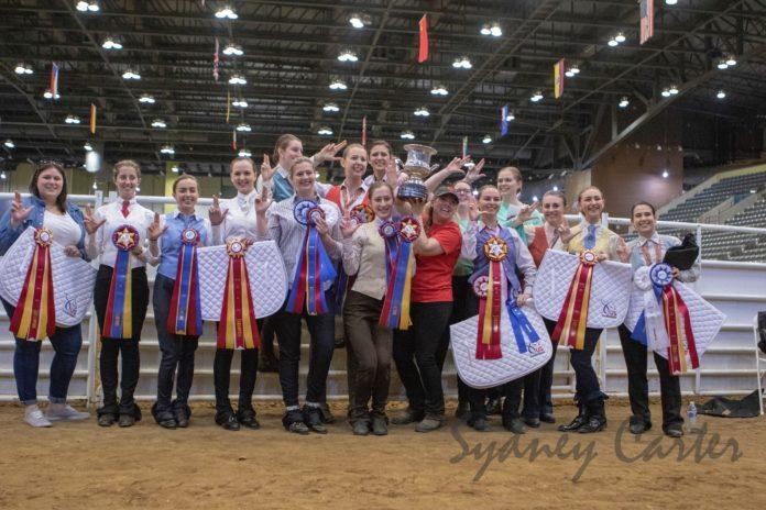 UofL's national championship Saddle Seat Team. Photo courtesy of Sydney Carter Photography.