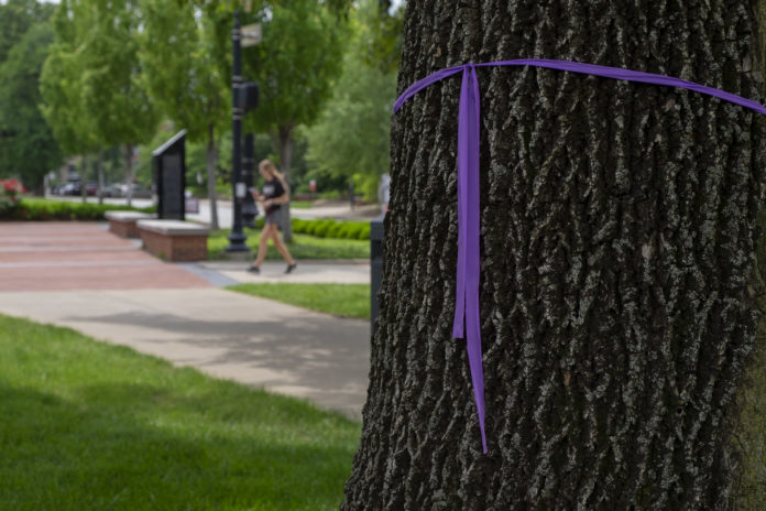 Ash trees like this one on Belknap Campus are being treated to protect them from the emerald ash borer.