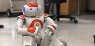 A robot currently being used to study autism and children