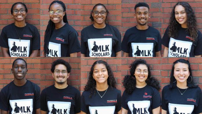 The 2023 cohort of UofL's MLK Scholars.