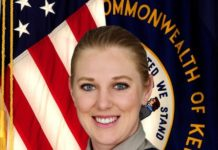Lt. Emily R. Horton, the first female Commercial Vehicle Enforcement Division officer to graduate from the SPI