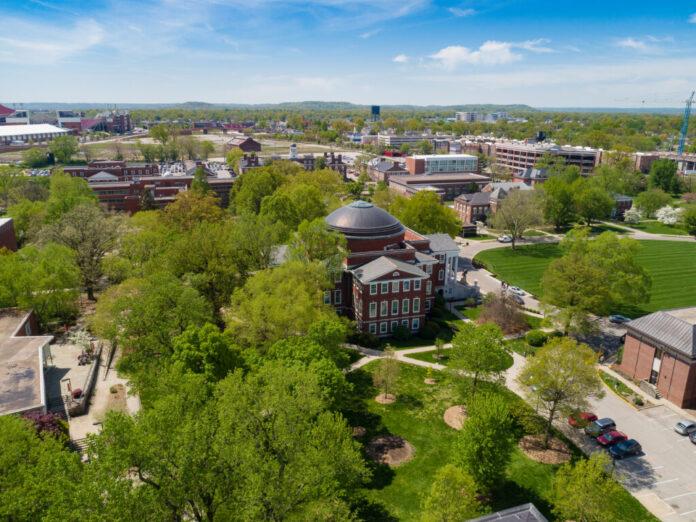 Belknap campus from above